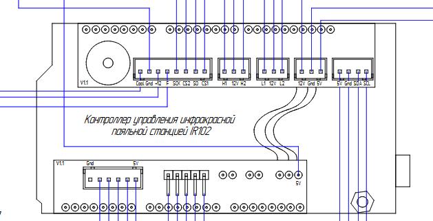 Схема подключение ir102